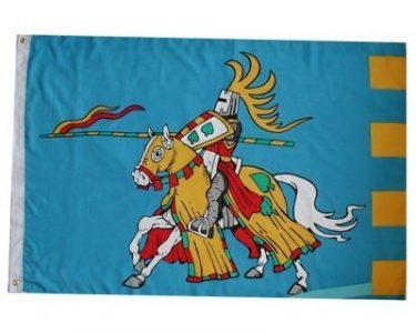 Ritter auf Pferd Flagge
