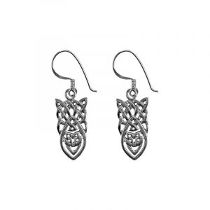 Keltische Knoop Oorbellen Zilver