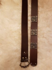 Viking riem in bruin 165 cm