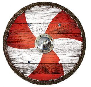 Viking Kinderschild rood-wit