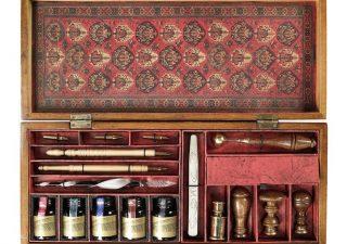 Kalligrafie Set - Schrijfset in luxe houten kist
