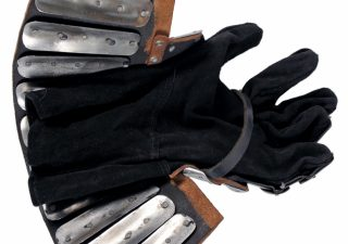 Middeleeuwse handschoenen 14e eeuws ( slacht van Visby )