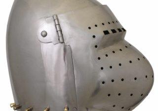 Bascinet helm met Vizier 14e eeuws