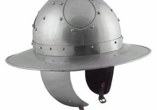 Monnikskap Helm met wangklappen 15e eeuws in S,M en L