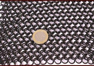 Maliënkolder hemd 8mm, gezwart, maat L