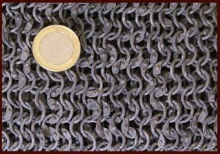 Kettenhemd Haubergeon, ID 8mm, Aluminium vernietet, Gr. M