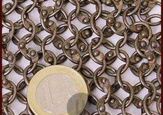 Maliënkolder stuk van 20x20 xm Ronde ring en verniet en onbehandeld