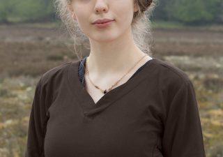 Middeleeuwse Damesjurk in Bruin