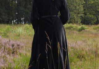 Middeleeuwse Jurk Zwart Fluweel