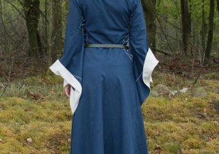 Middeleeuwse Damesjurk in Blauw/Natuur