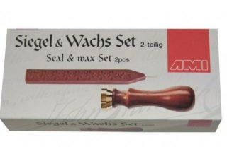 Middeleeuwse Zegelstempel en Wax set