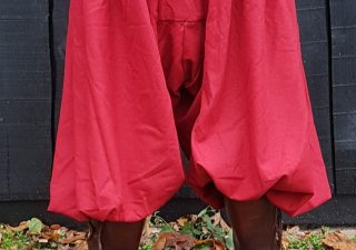 Viking Rusvik Broek maat XL in rood linnen