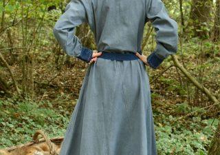 Wikinger kleid, blaugrau/blau 9Jh. bis 10Jh
