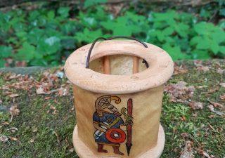 Viking Lantaarn, handgemaakt en handbeschilderd met Gotland Krijjger