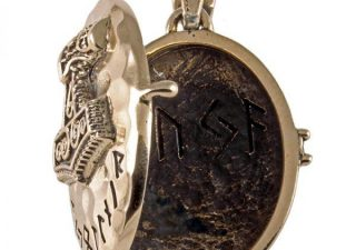 Viking Medaillon met Thor Hammer in Brons