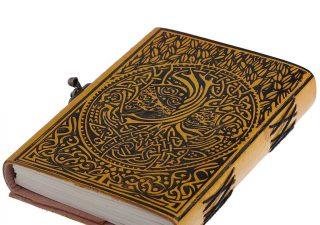 Mittelalterliches nordisches Yggdrasil Tree Lederbuch mit Verschluss