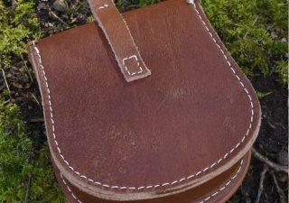 Wikinger Birka-Gürteltasche Leder, Originalfund aus Rösta, Schweden