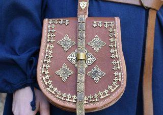 Viking Leren Birka Tas uit Zweden ca. 10e eeuws