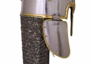 Wikinger Coppergate Helm mit vernieteter Kettenbrünne, 1,6 mm Stahl