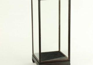 Vitrine Donkerbruin/Zwart 26 x 26 x 53 cm