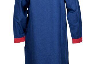 Vroeg Middeleeuws Tuniek in Blauw met Rood