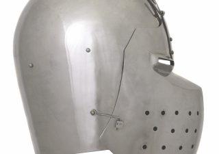Bascinet met Klapvizier 14e eeuws in 2 mm staal