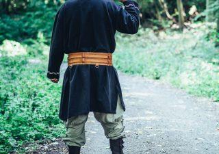 Viking Gordel in lichte Cognackleur Leder