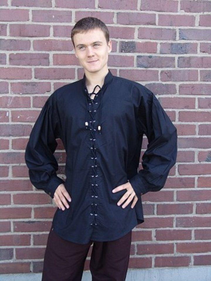 Middeleeuwse Blouse Zwart