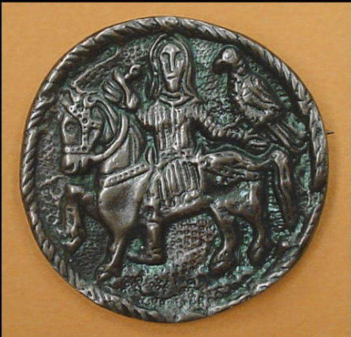Viking Valkeniers Fibula Slavisch 9e eeuws Brons