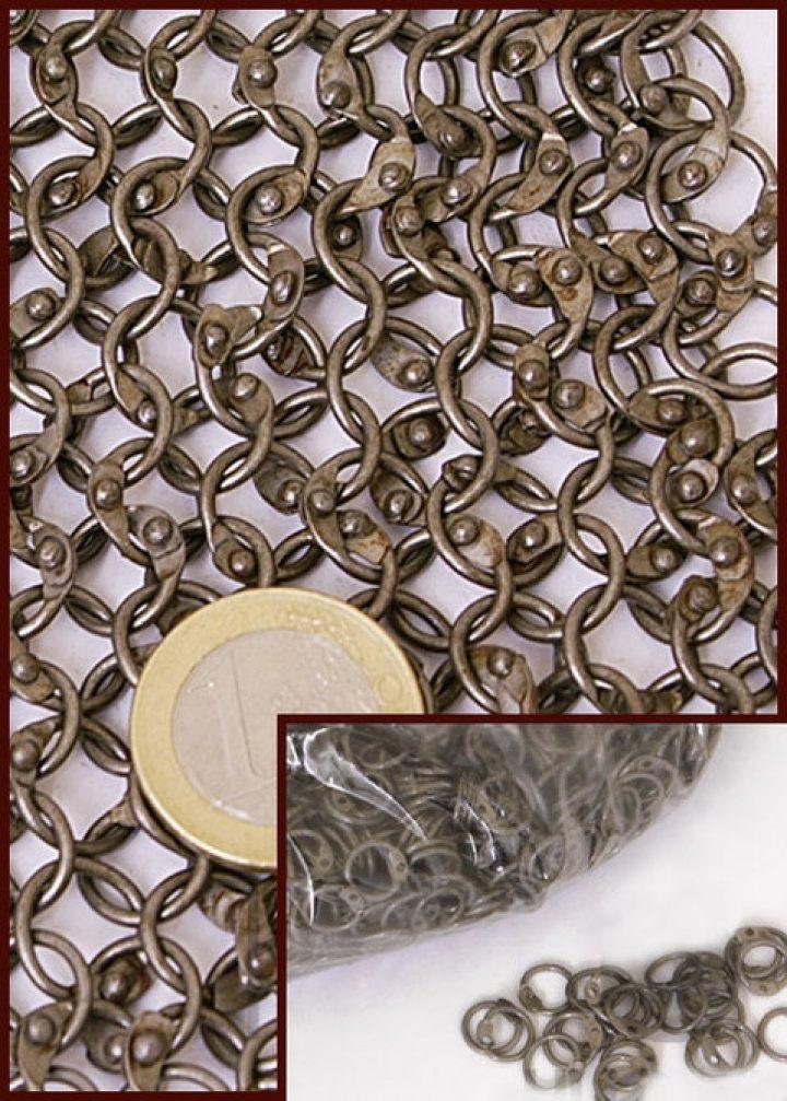 1 kg Malien Ronde Ringen Vernagelt, onbehandeld 8mm, 1.5 mm dik