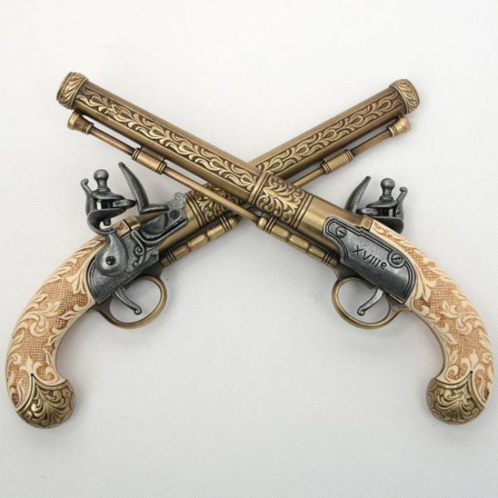 Duelleer Pistolen set 1550 replic. HSD-64135