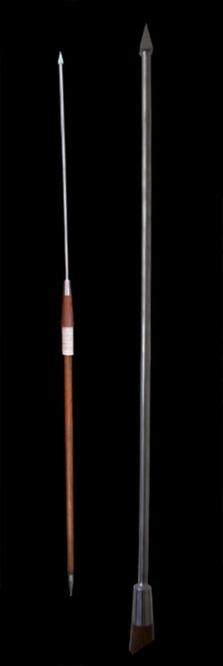 Pilum van Rozenhout, deelbaar 215 cm