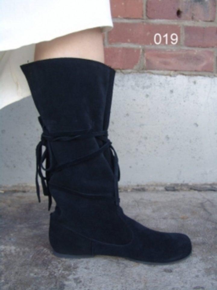 Middeleeuwse Lederen Laarzen zwart
