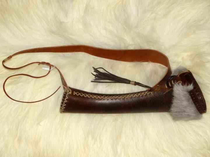 Pijlenkoker handmade voor op de rug DH-005