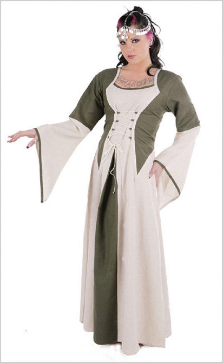 Middeleeuwse jurk Beige/Natuur