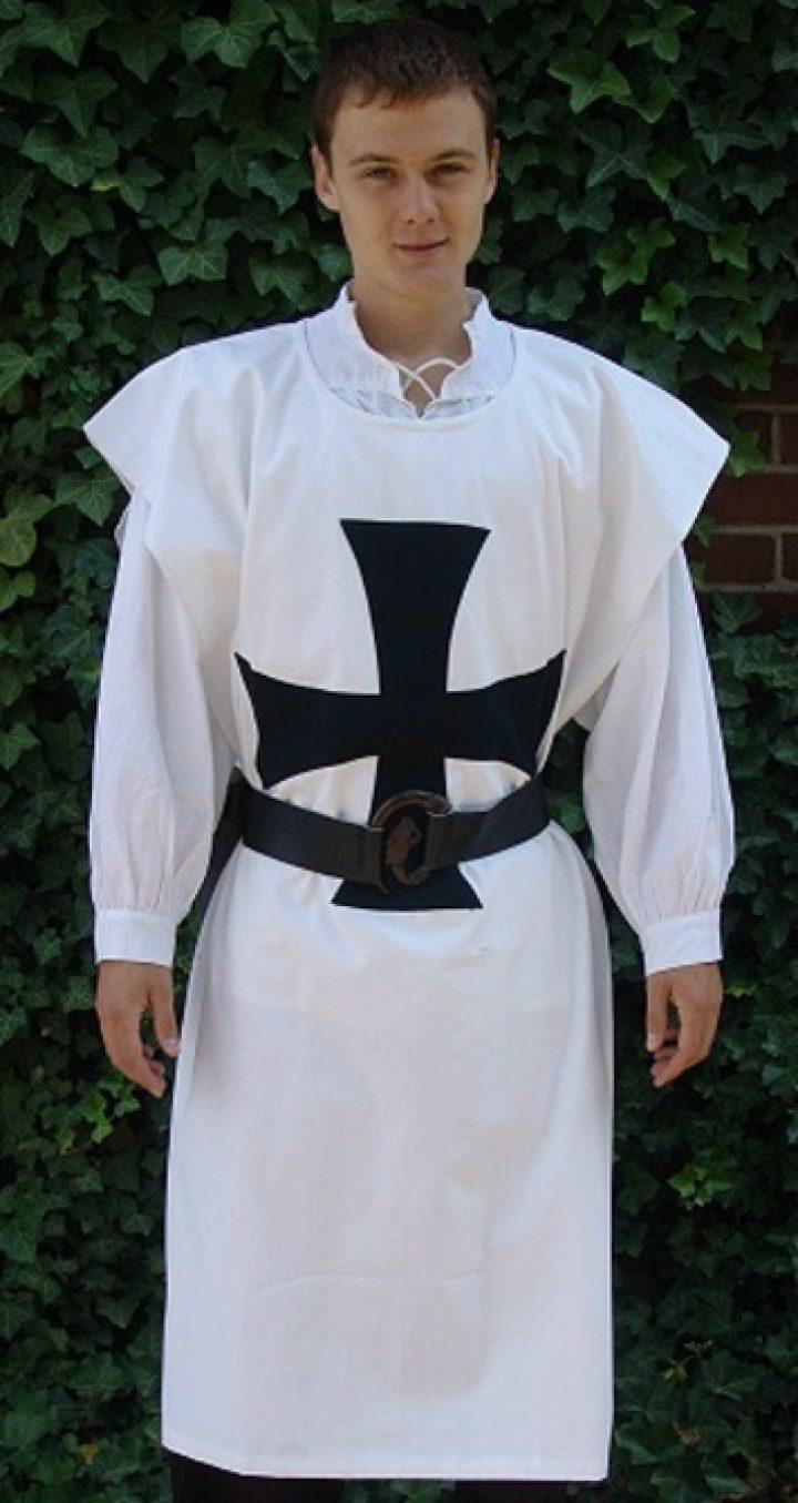 Waffenrock der Templar LC-2081 wit-zwart