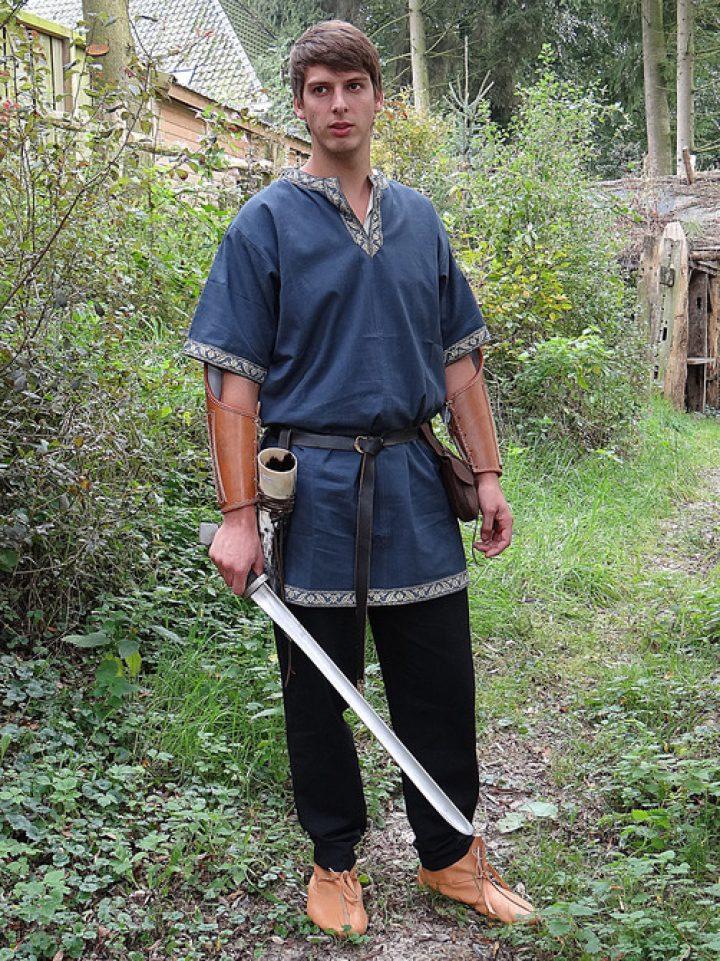 Middeleeuws-Viking Tuniek Blauw
