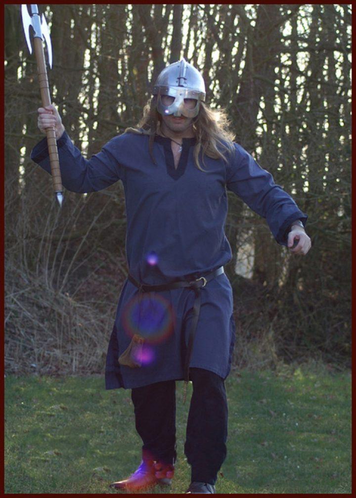 Middeleeuws - Viking Tuniek Blauw