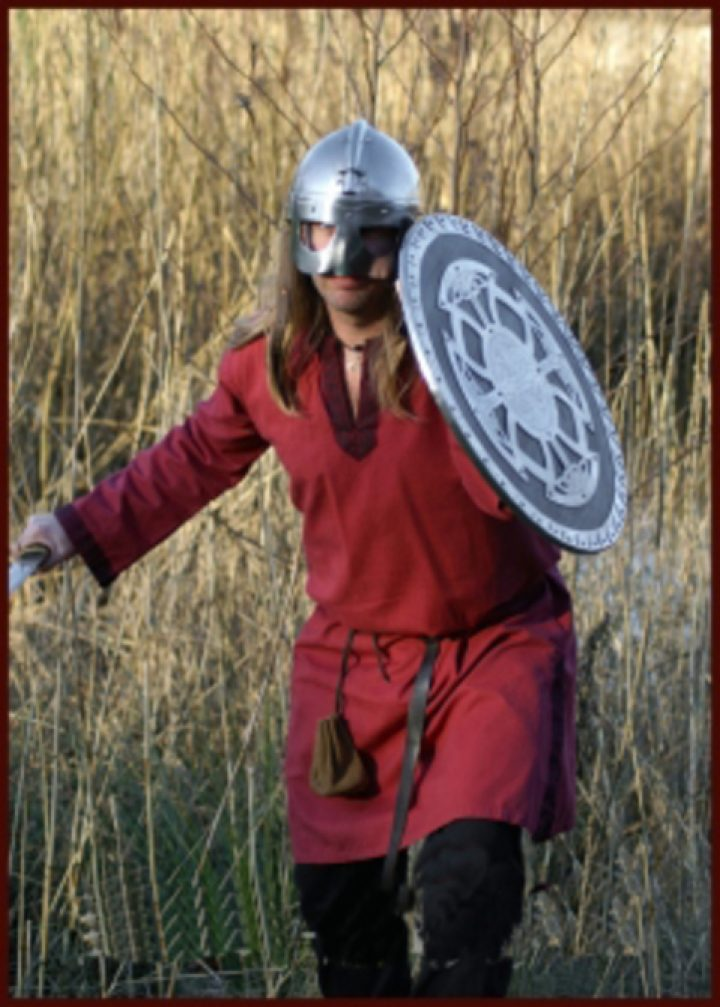 Mittelalter-Wikinger Tunika Rot