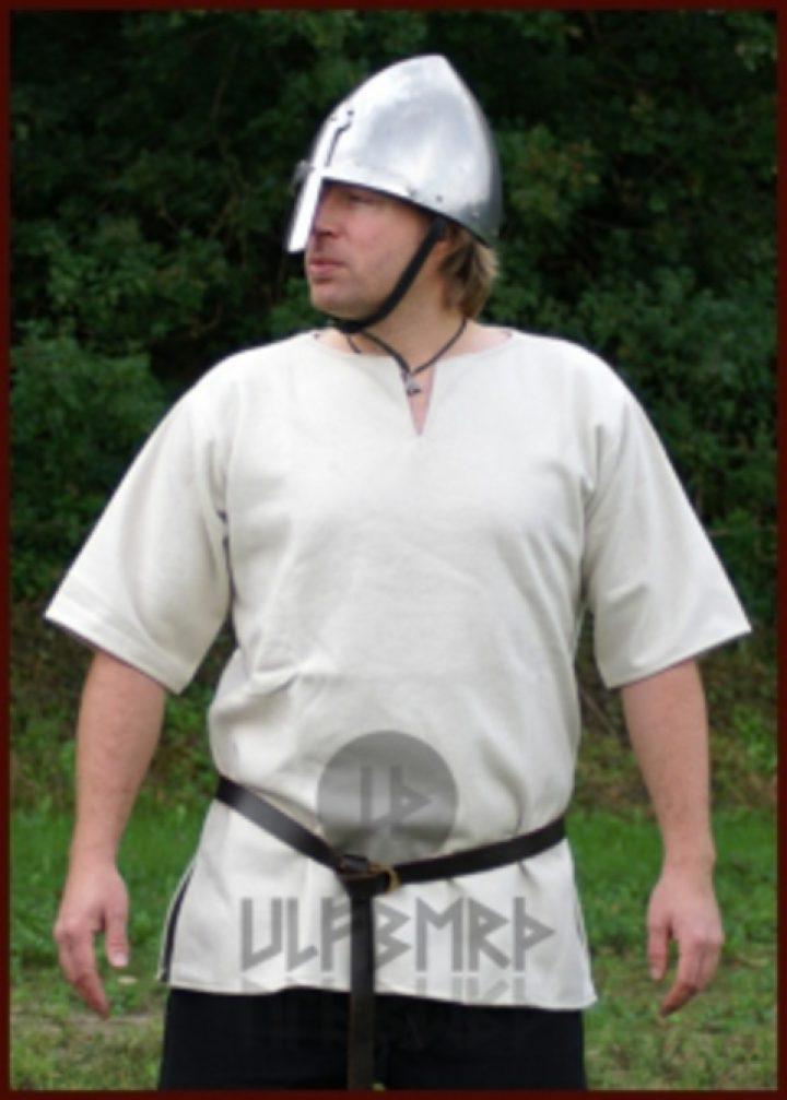 Middeleeuws-Viking Tuniek Wol, in Natuurkleur