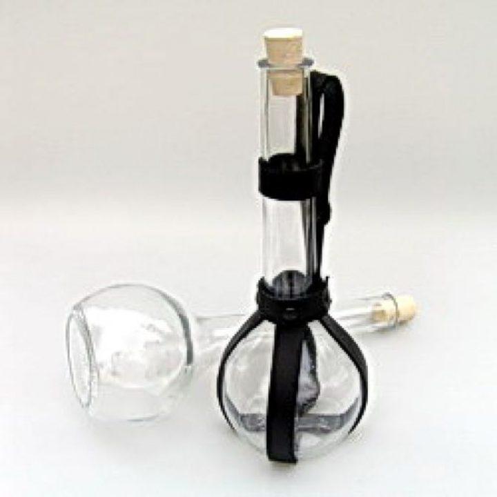 Trinkflasche von Glass mit Leder Halter 0.5 liter