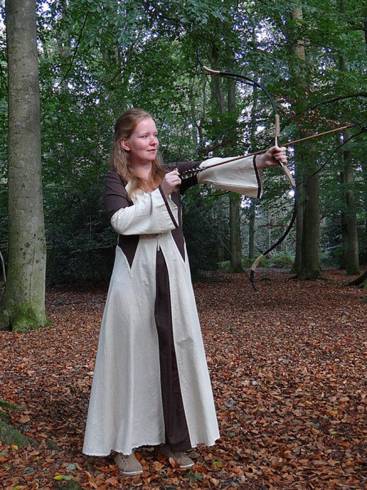 Mittelalter Kleid Braun-Natur