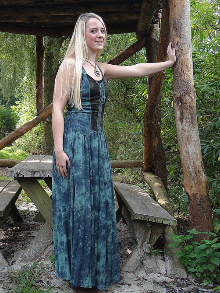 Middeleeuwse zomer jurk groen