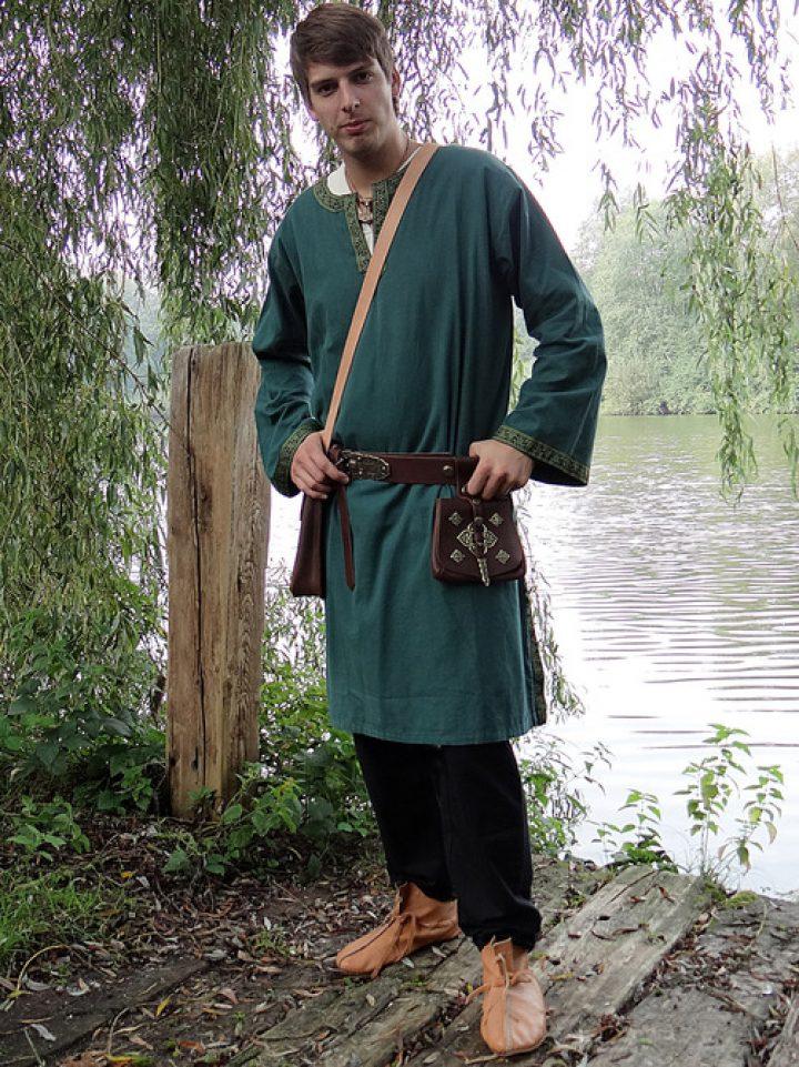 Mittelalter-Wikinger Tunika Grun