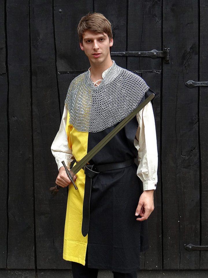 Middeleeuws Tuniek geel/zwart