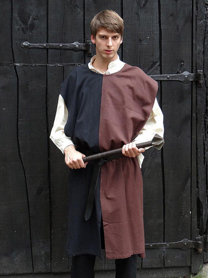 Middeleeuws Tuniek zwart/bruin