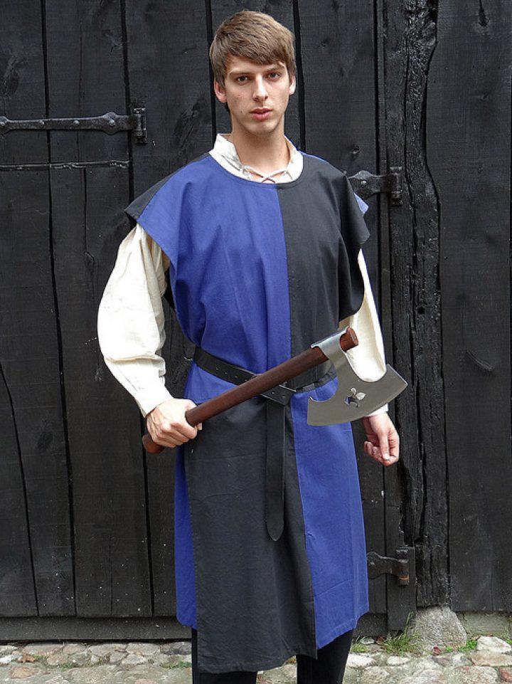 Middeleeuws Tuniek Blauw-zwart