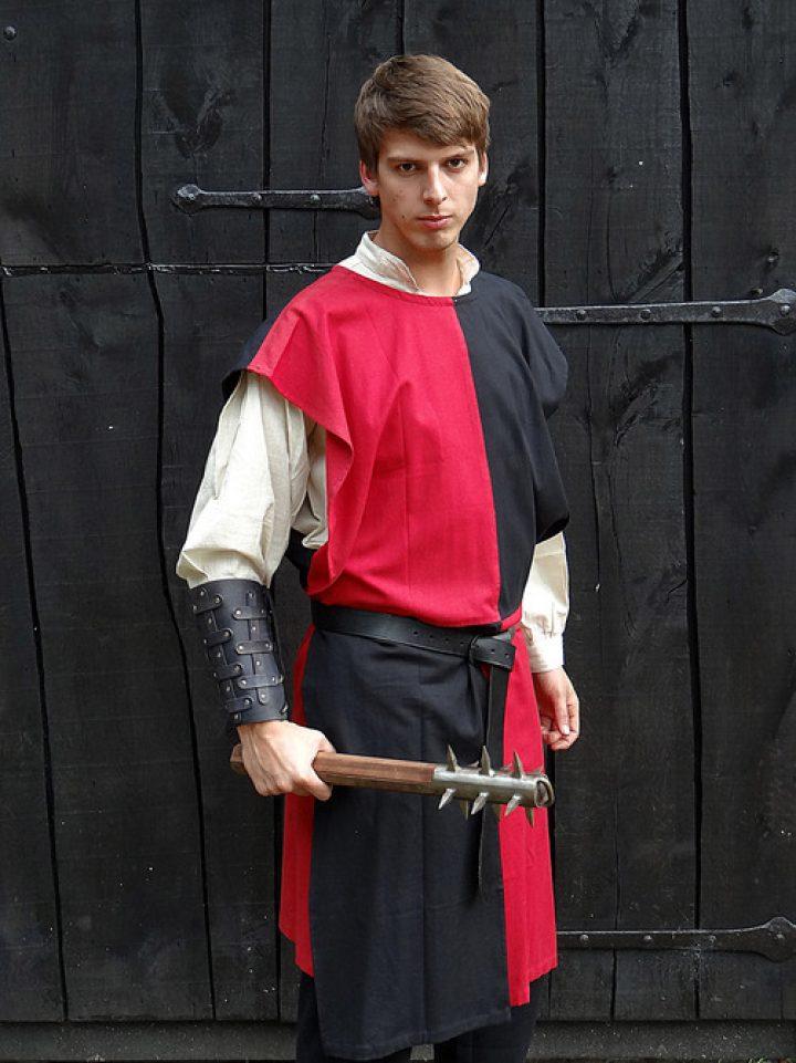 Middeleeuws Tuniek zwart-rood
