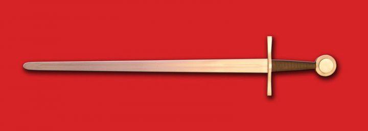 1 hand zwaard 13e - 14 eeuws