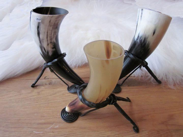 Trinkhornstander Geschmiedet + 0.1 liter Trinkhorn